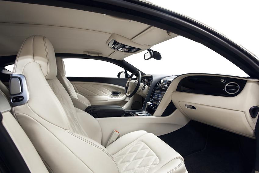 Car interior luxury black and white